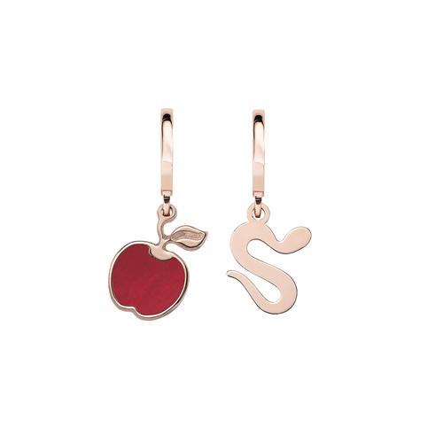 Apple and Snake Rosé Earrings