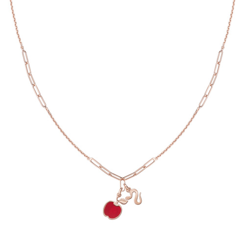 Apple and Snake Rosé Necklace