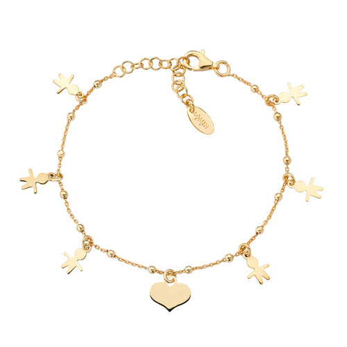 Baby Bracelet and Golden Hearts