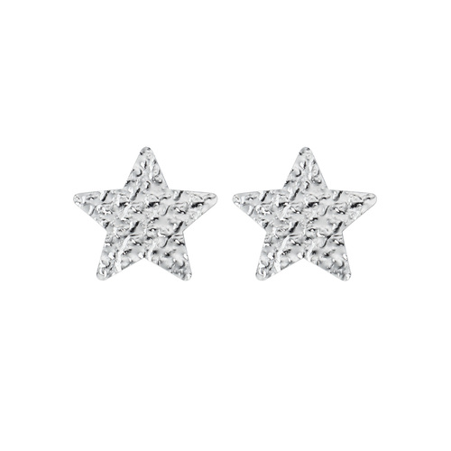 Big Star Hammered Earrings