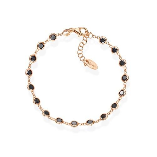 Black Drops Zirconia Bracelet
