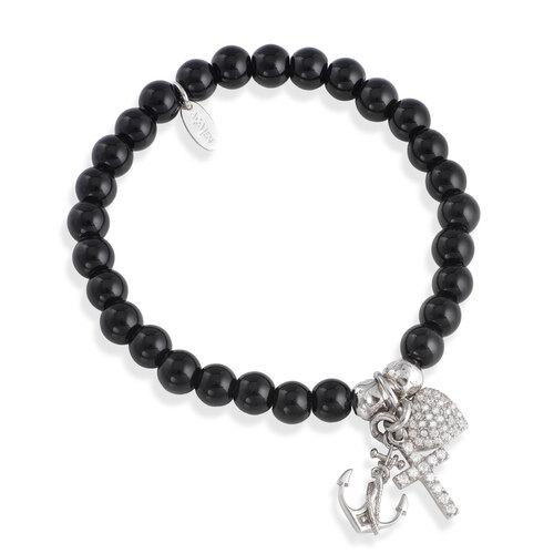 Bracelet agate Black