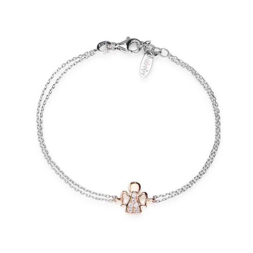 Bracelet Angel in Rhodium and rosè White cubic zirconia