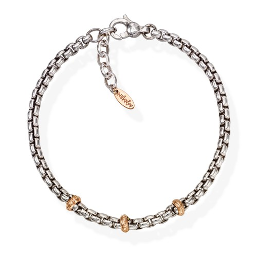 Bracelet Chain Box Rhodium