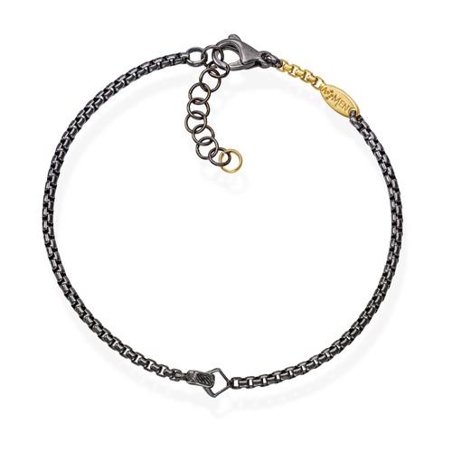 Bracelet Chain Box Ruthenium and Golden