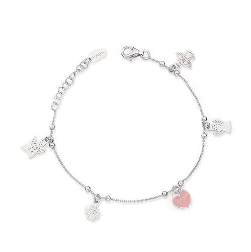 Bracelet Charm Angels and Heart