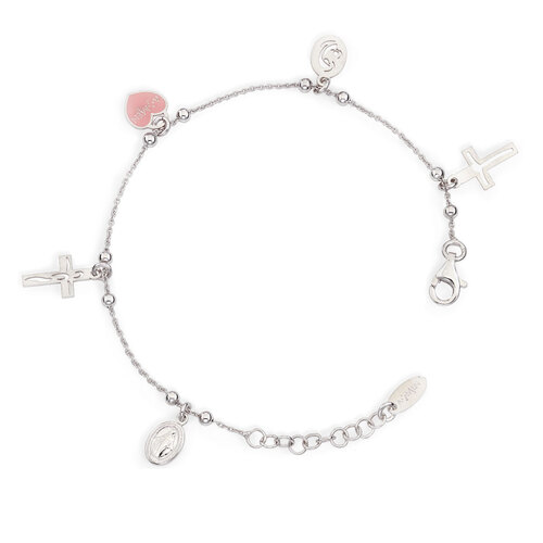 Bracelet Charm Angels, Heart Madonna Jesus Baby