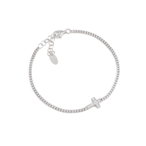 Bracelet Cross e Zircons