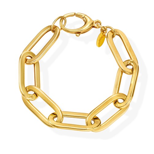 Bracelet Crushed Rolò Chain Oval Golden