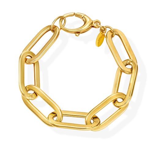 Bracelet Crushed Rolò Chain Oval Golden