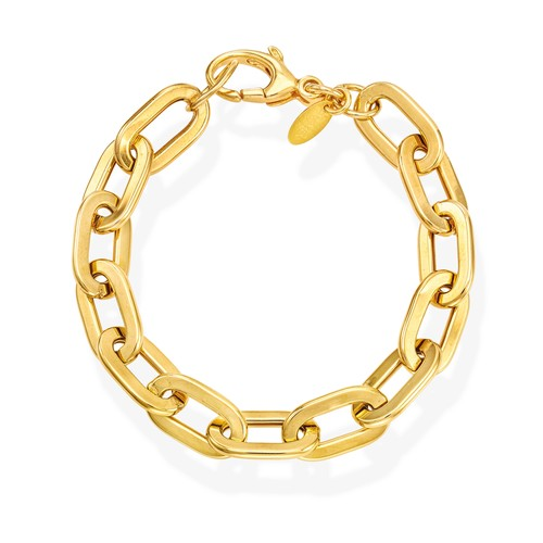 Bracelet Crushed Rolò Chain Square Golden
