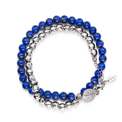 Bracelet double Saint Benedict AG925 rhodium