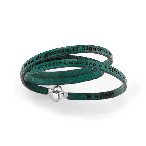 """Bracelet Hail Mary with engraved """"Hail Mary"""" italian"""