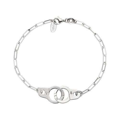 Bracelet Handcuffs Rhodium