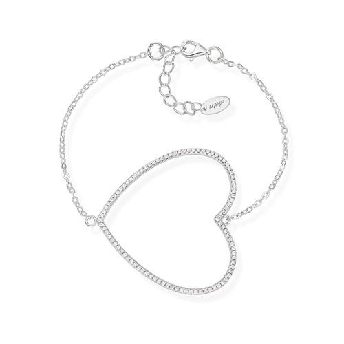 Bracelet Heart Big Zirconate