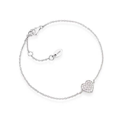 Bracelet Heart Zircons