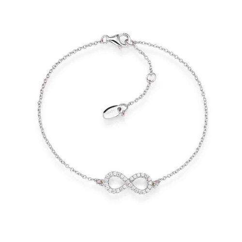 Bracelet Infinite in AG925 White cubic zirconia