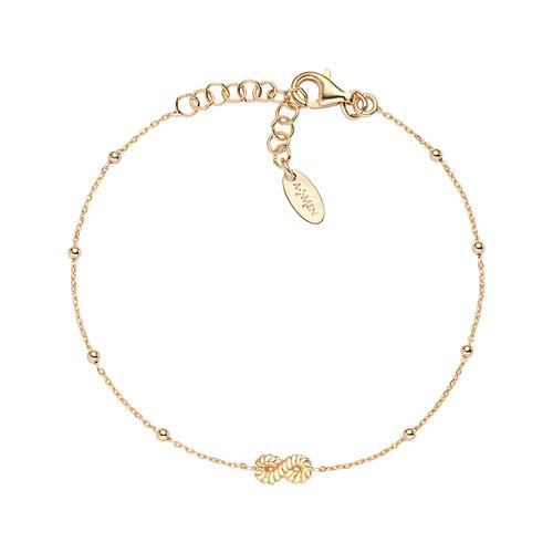 Bracelet Infinity Knurled Golden