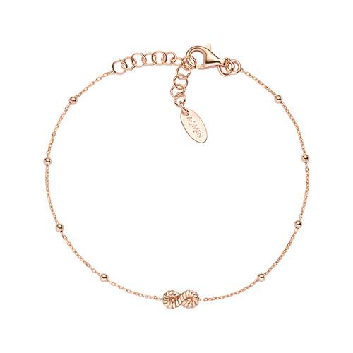 Bracelet Infinity Knurled Rosè