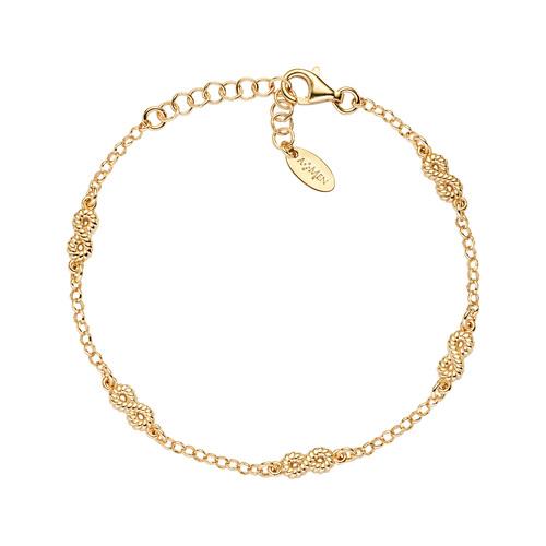Bracelet Infinity Multiple Knurled Golden