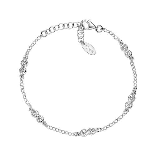 Bracelet Infinity Multiple Knurled Rhodium