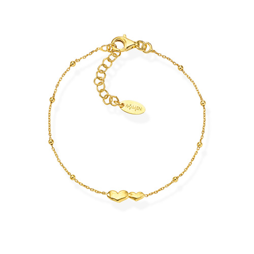 Bracelet Little Hearts Golden