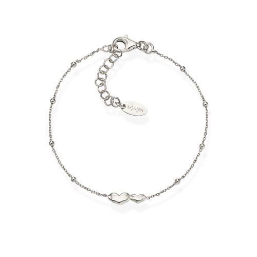 Bracelet Little Hearts Rhodium