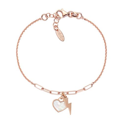 Bracelet Love Fulmine and Heart Rosè