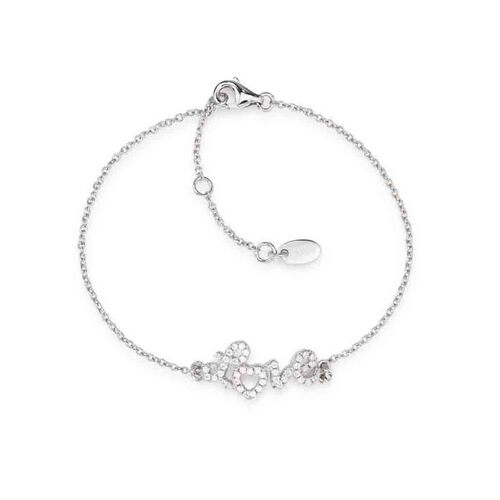 "Bracelet ""LOVE"" in AG925 White cubic zirconia"
