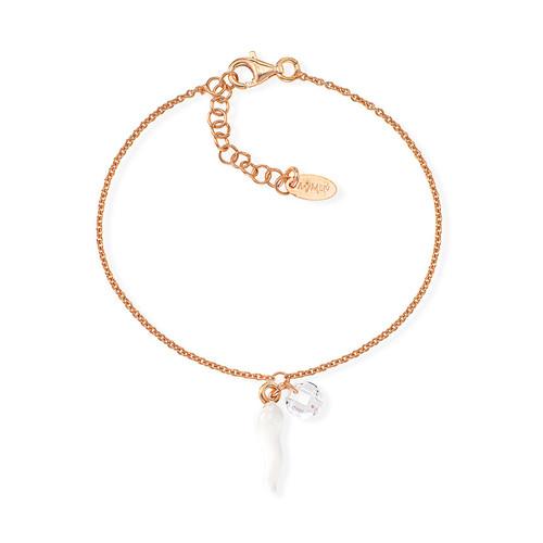 Bracelet Lucky Horn White and Zircon
