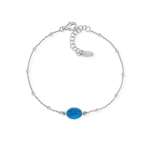 Bracelet Madonna Enamelled Blue