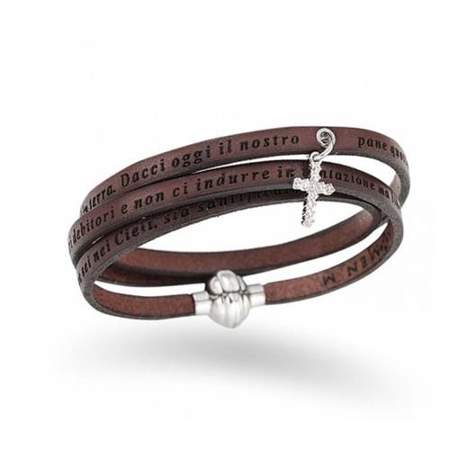 Bracelet Our Father Cross Charm Zircons