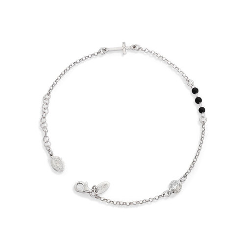 Bracelet Our Father Crystal Black
