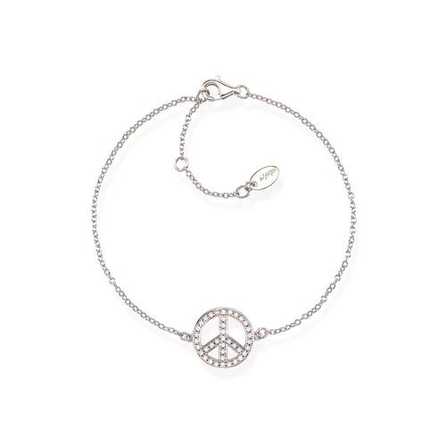 Bracelet Peace Zircons