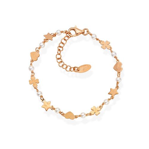 Bracelet Quatrefoil Star and Heart Rosè