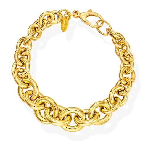 Bracelet Rolo Chain Round Golden