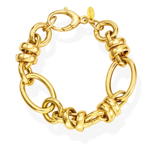 Bracelet Rolo Chain Round Wire Golden