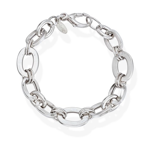 Bracelet Rolo Chain Various Rhodium