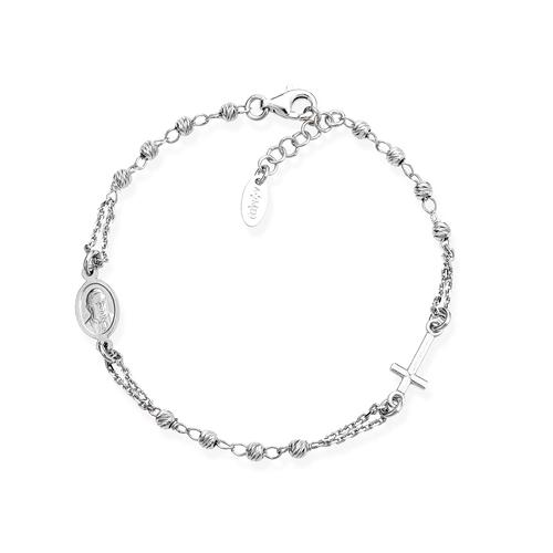 Bracelet Rosary Diamond Silver