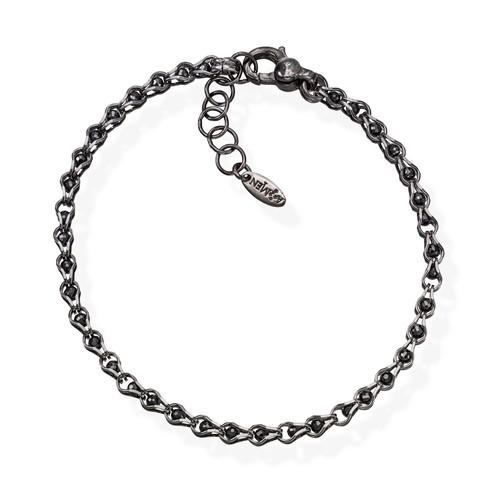Bracelet Ruthenium and Chain Zircons Black