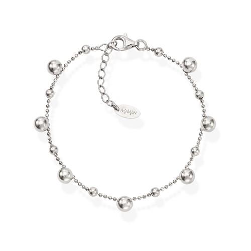 Bracelet Spheres Rhodium