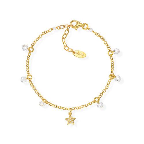 Bracelet Star Zirconate and White Nuggets