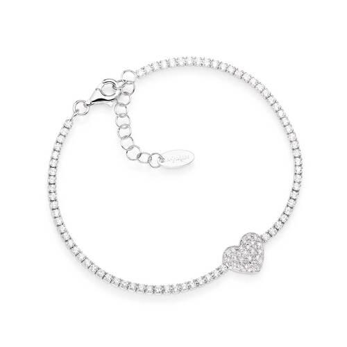 Bracelet Tennis Heart Zircons
