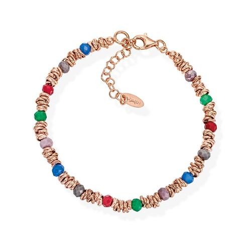 Braided Bracelet Multicolor Crystals