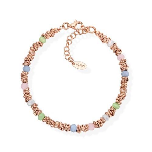 Braided Bracelet Pastel Crystals