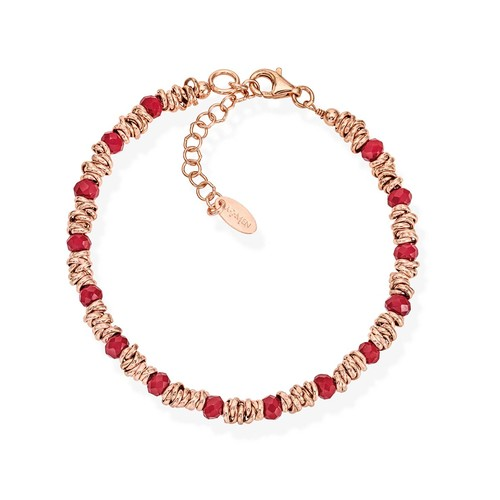 Braided Bracelet Red Crystals