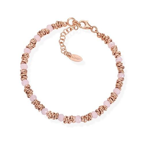 Braided Bracelet White Crystals