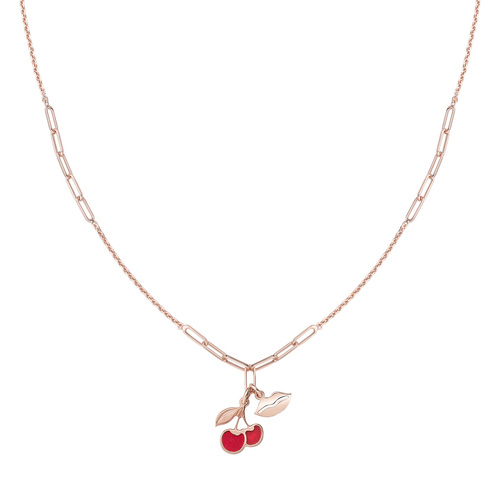Cherry and Kiss Rosè Necklace
