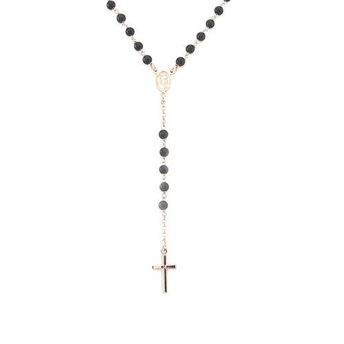 Classic rosary Rhodium with crystals
