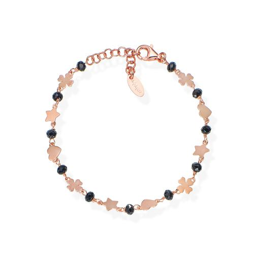 Clover Star and Heart Bracelet Rosè